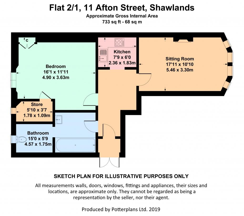 Flooring Sale Glasgow: 11 Afton Street, Shawlands, G41 3BT 1 Bed Flat For Sale