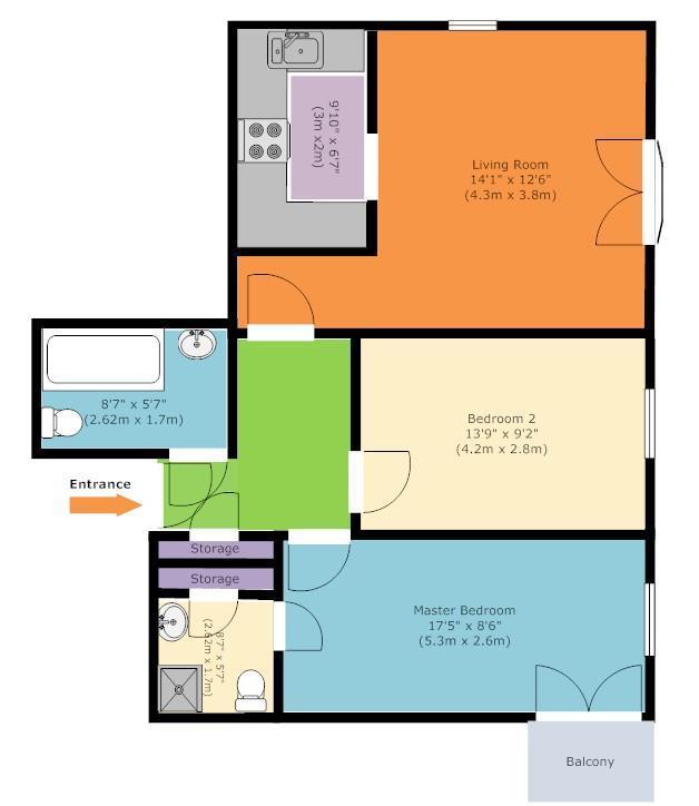 Floorplan: Hursley Walk