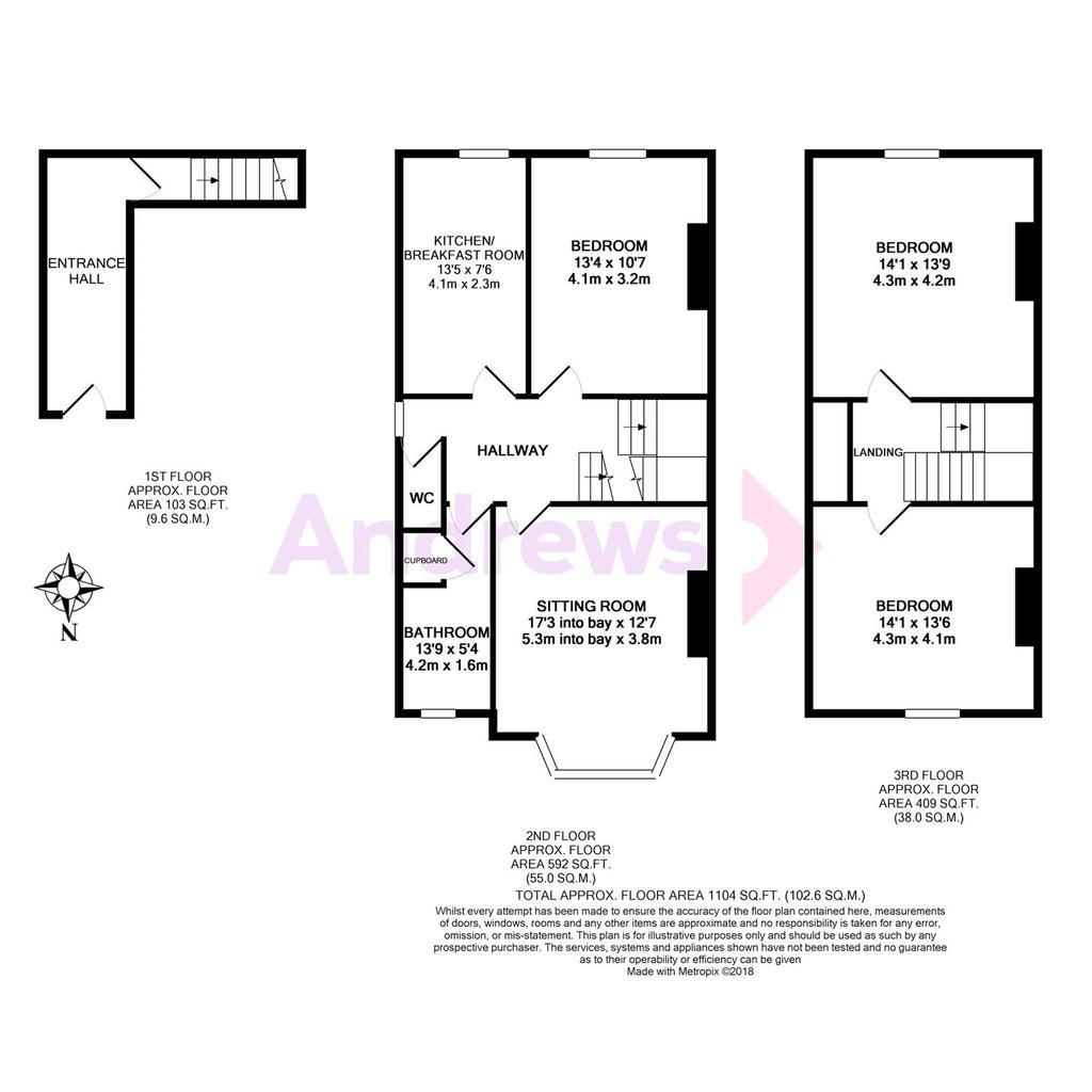 Floorplan: Floorplan   top floor flat
