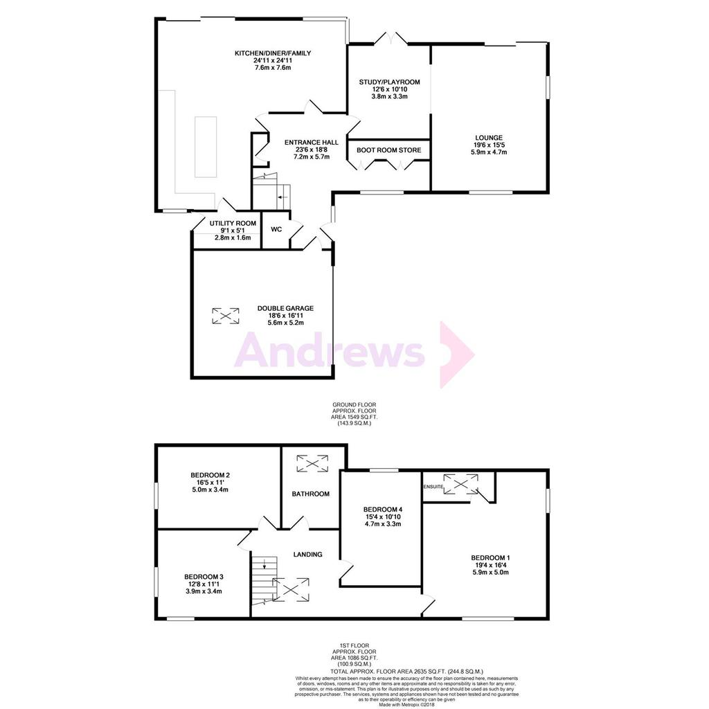 Floorplan: Cedar House