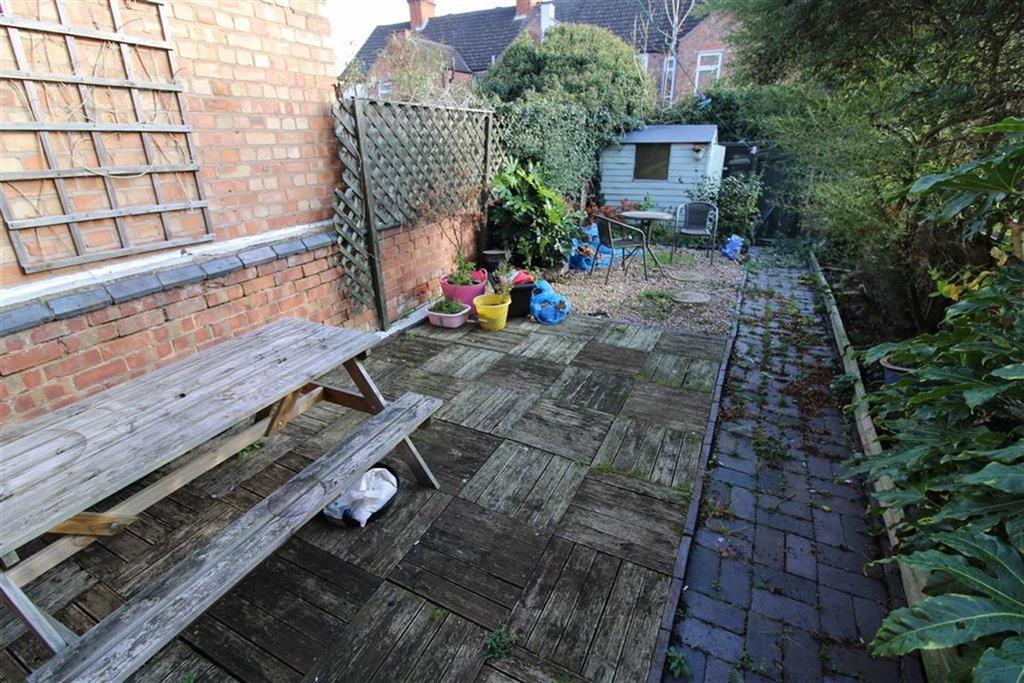 Walled rear yard