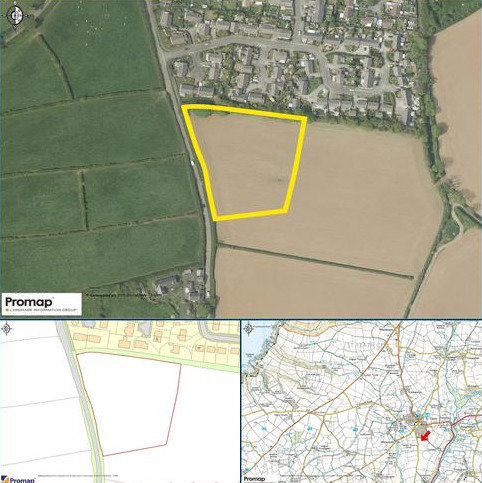 Plot for sale - Land South Of Trehannick Close, St. Teath, Bodmin, Cornwall, PL30