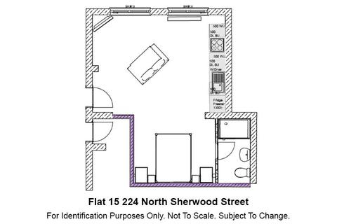 Studio to rent - 224 North Sherwood Street, Flat 15, NOTTINGHAM NG1 4EB