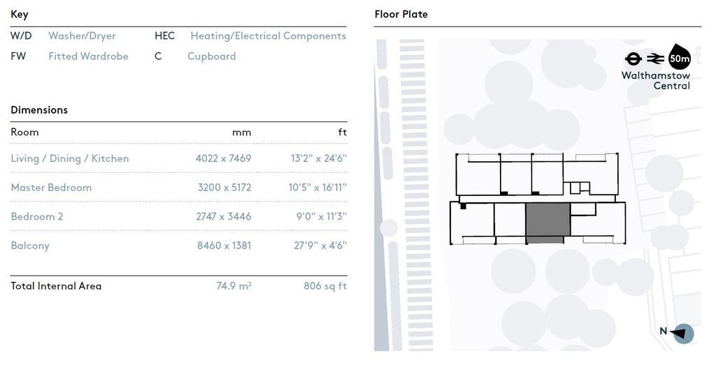Floorplan 2 of 2: Dimension