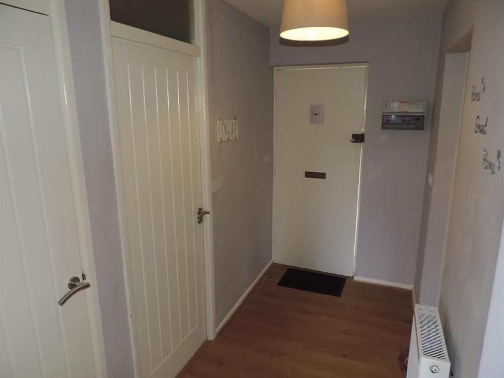 Private L shaped entrance hallway