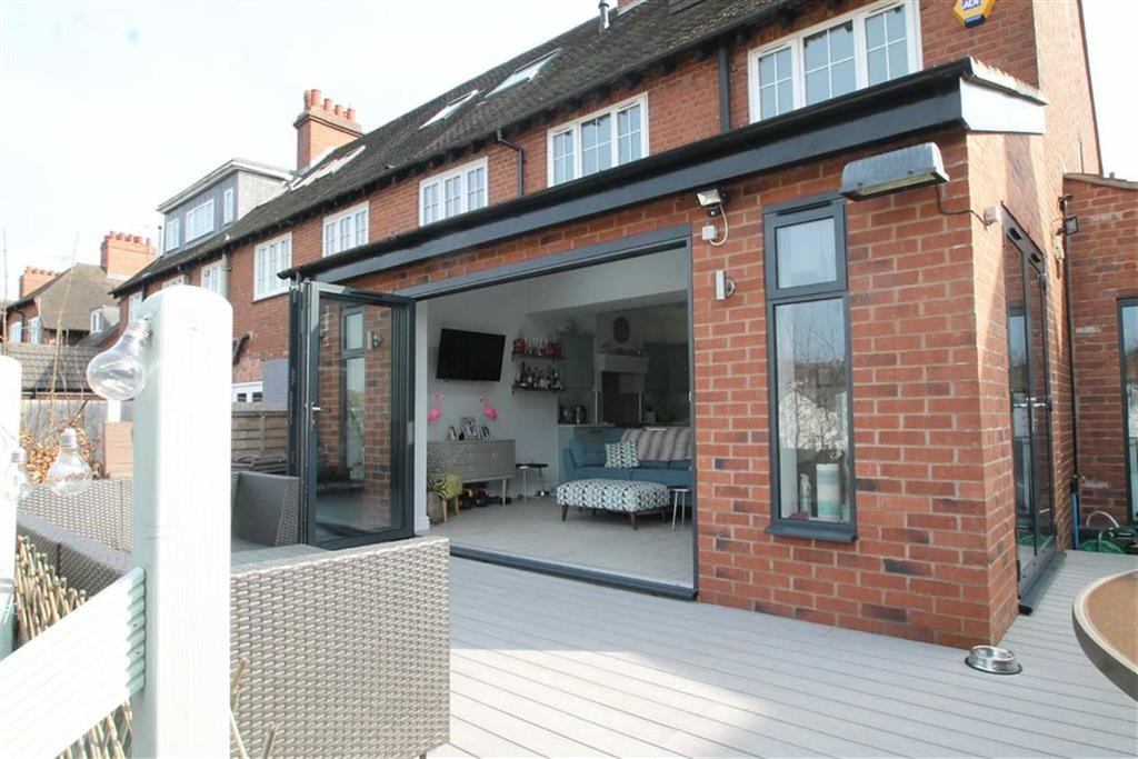 Bi folding doors leading to