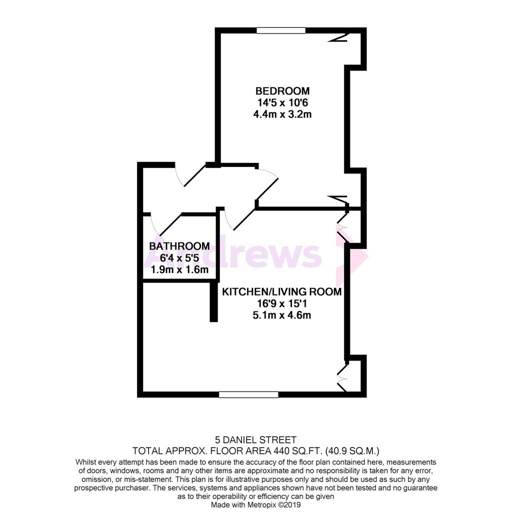 Floorplan: 5 Daniel Street floorplan