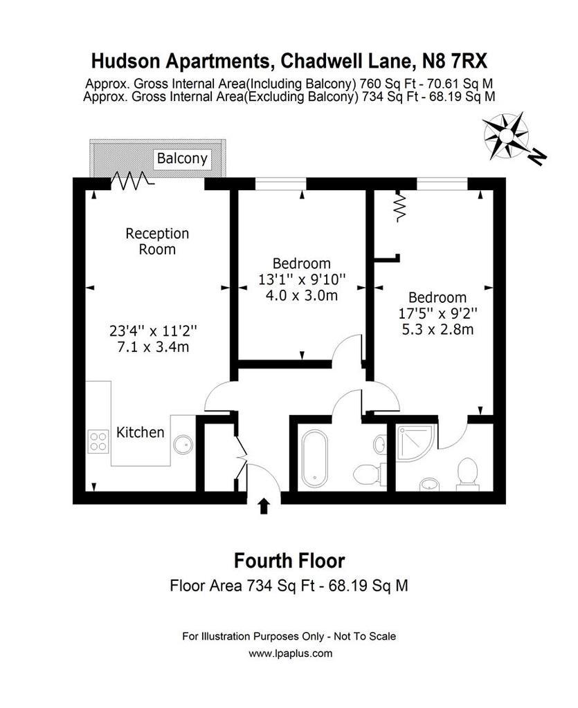 Floorplan: Hudson Apartments Chadwell Lane.jpg