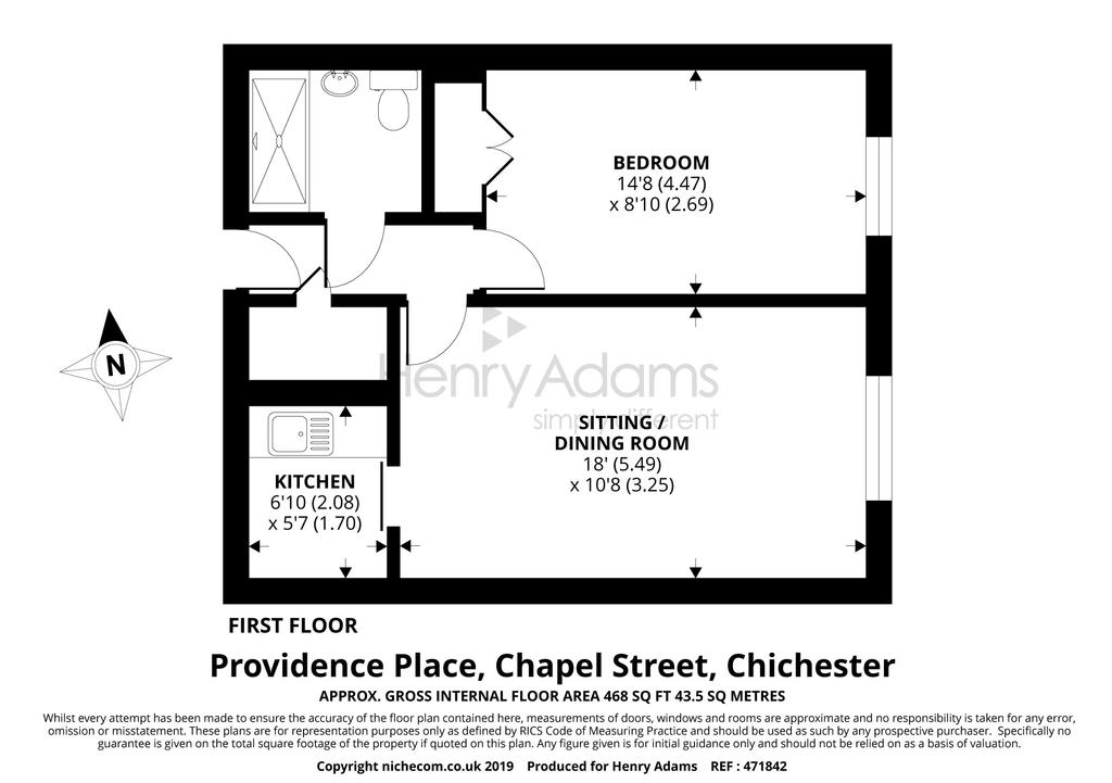 Providence Place Chapel Street Chichester Po19 1 Bed