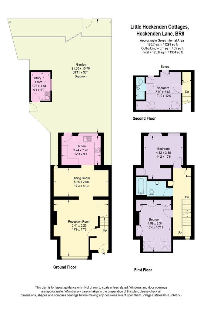Floorplan: 3 Little Hockenden