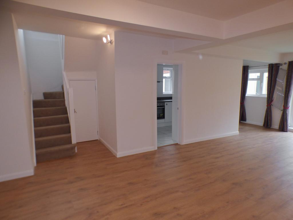 Lounge to kitchen and stairs up