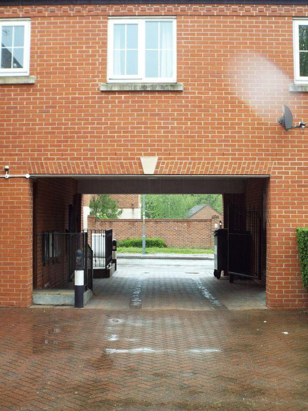 Gated entrance to