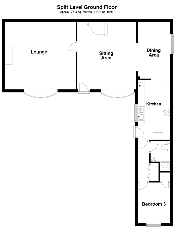 Floorplan 1 of 2: Split Level Ground Floor