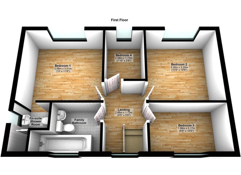 Floorplan 2 of 2: 71 Blakeney Drive, Luton   Floor 1.jpg