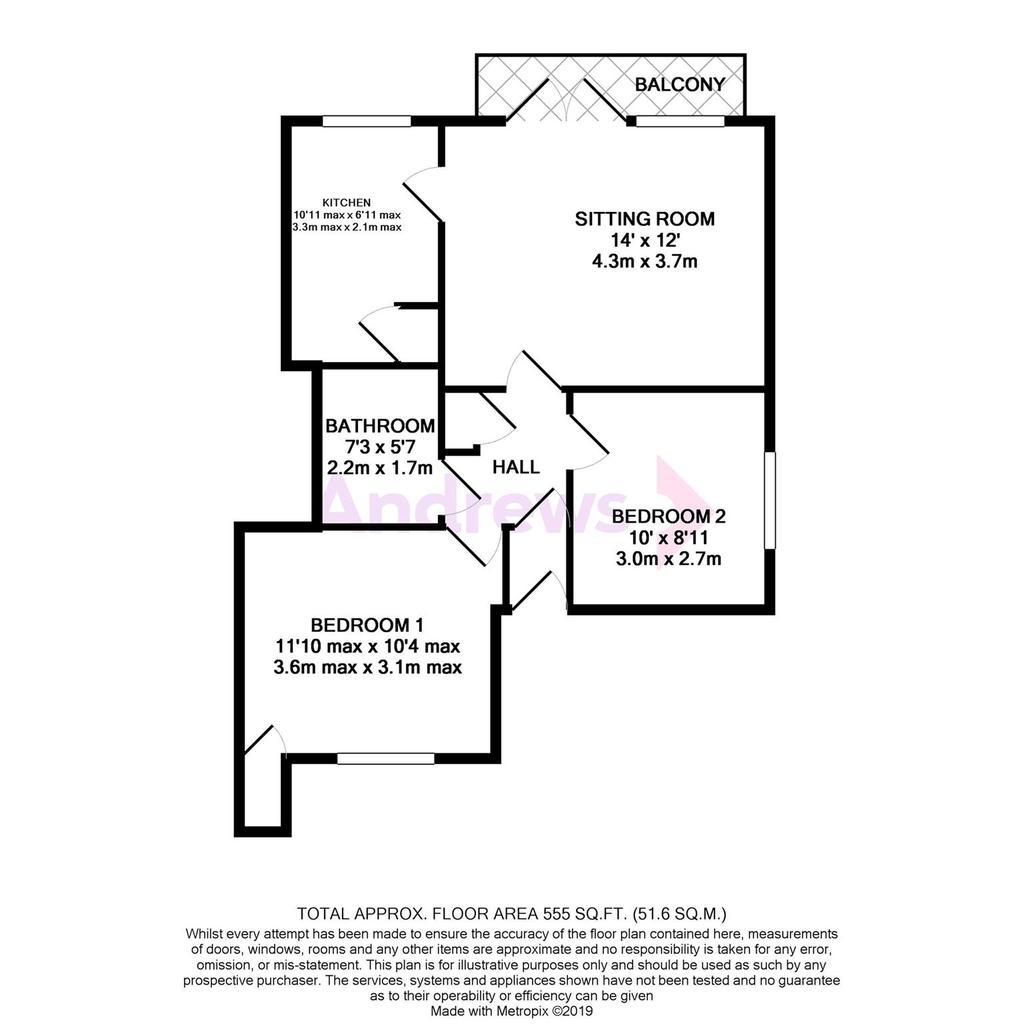 Floorplan: 9 Melcombe Court