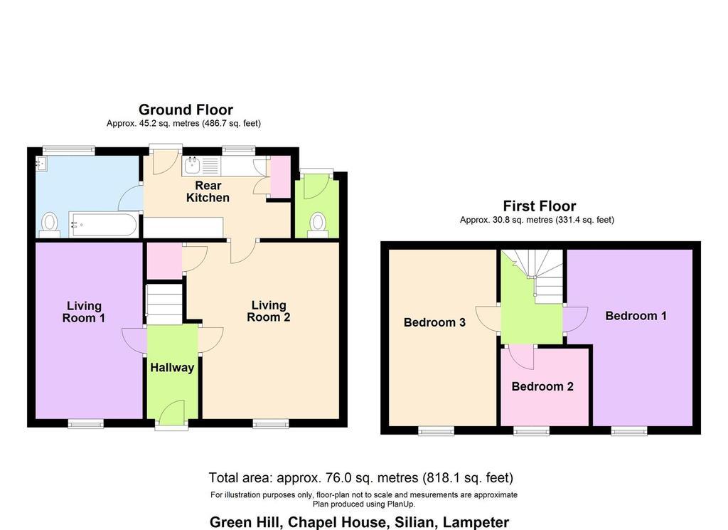 Floorplan: Floor plan Green Hill, Chapel House, Silian, Lampe