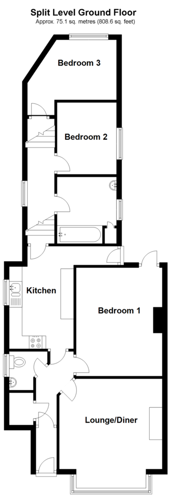 Floorplan: Split Level Ground Floor