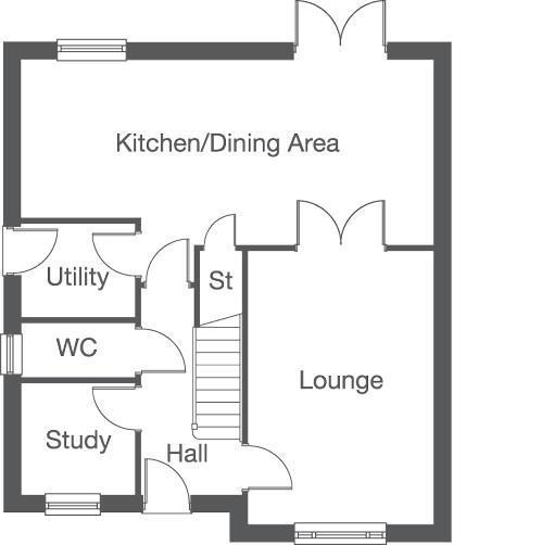 Floorplan 1 of 2: The Oakford Ground Floor Layout