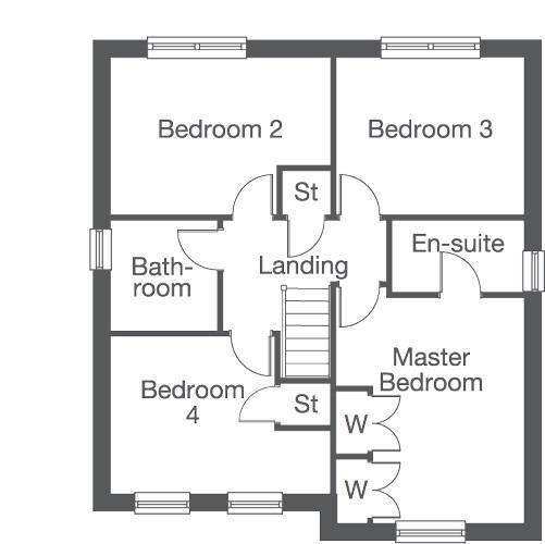 Floorplan 2 of 2: The Oakford First Floor Layout