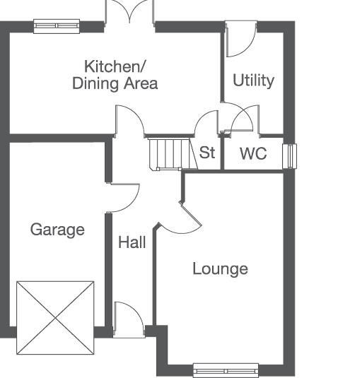 Floorplan 1 of 2: The Mapleford Ground Floor Layout Plan