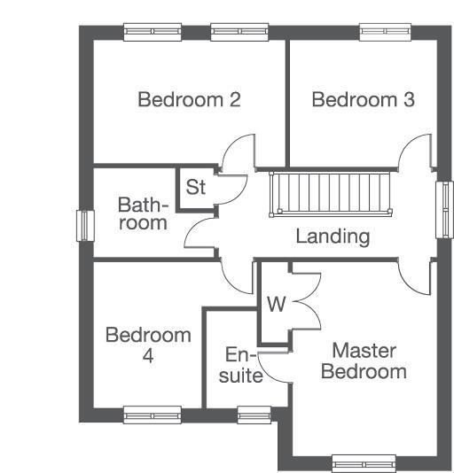 Floorplan 2 of 2: The Mapleford First Floor Layout Plan