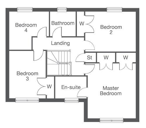 Floorplan 1 of 2: The Pensford Ground Floor Layout Plan
