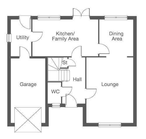 Floorplan 2 of 2: The Pensford First Floor Layout Plan