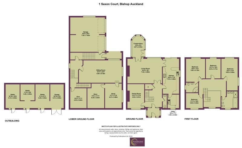 Floorplan: 1 Saxon Court, Bishop Auckland
