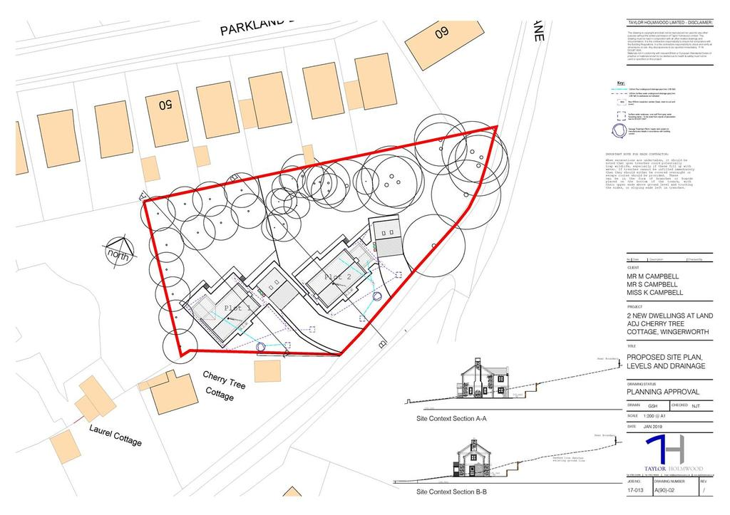 19 00069 fl proposed site plan levels and drainage