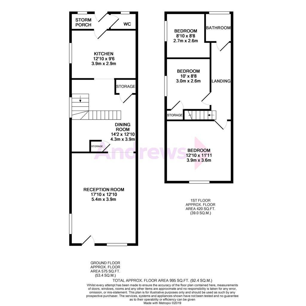 Floorplan: 16 Hope Terrace