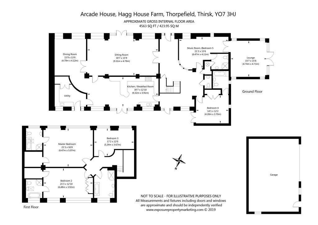 Hagg House Farm Thorpefield Thirsk North Yorkshire Yo7 5 Bed House 895 000