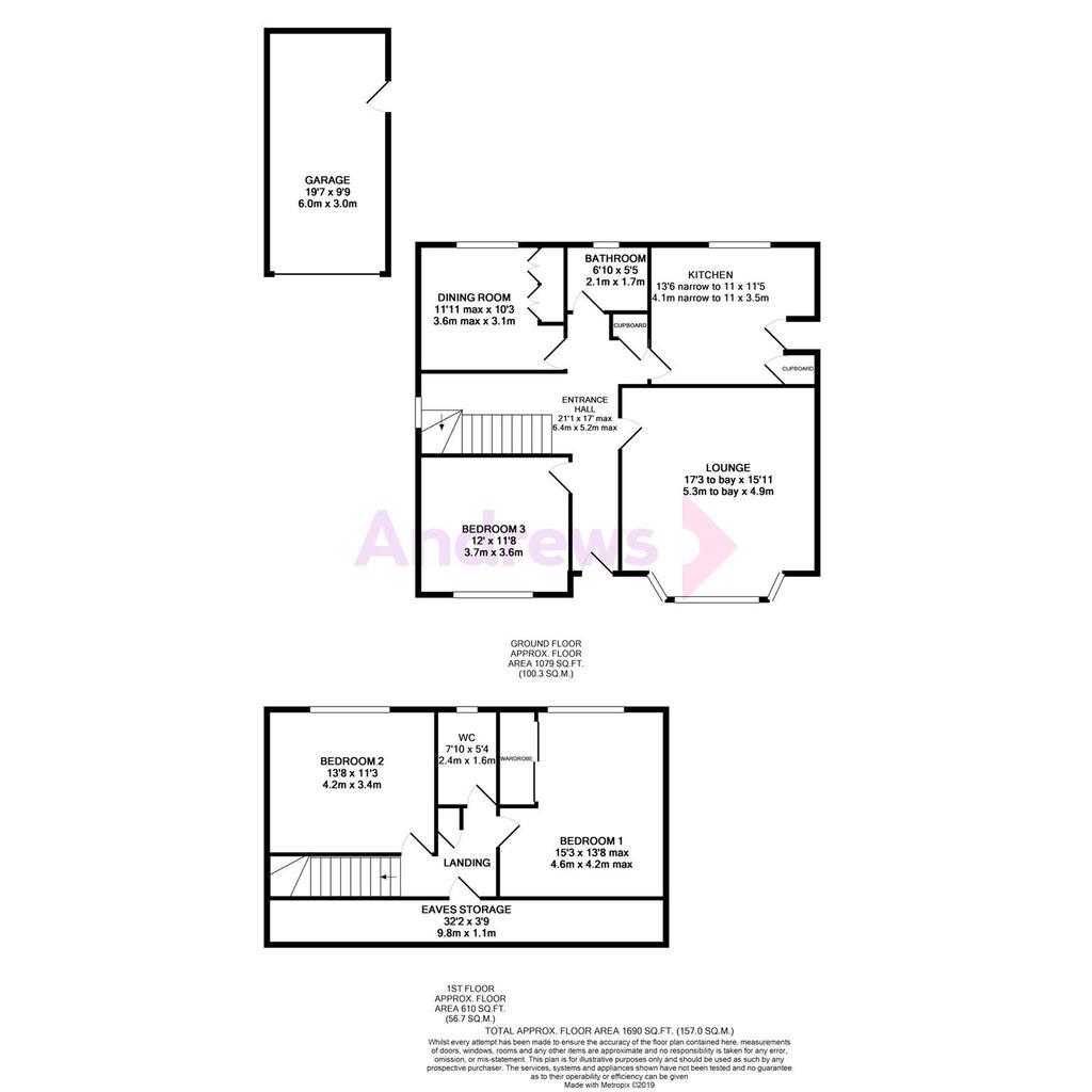 Floorplan: Bushcombe Close