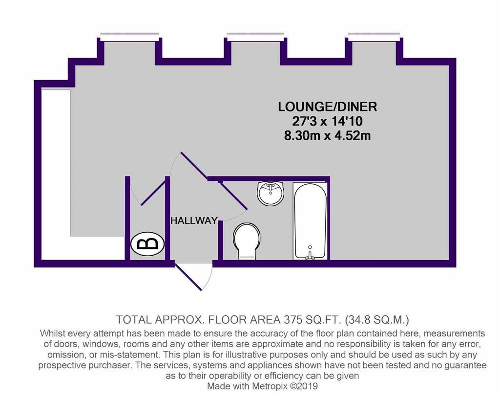 Floorplan: 9 Victoria Riverside   Studio.JPG