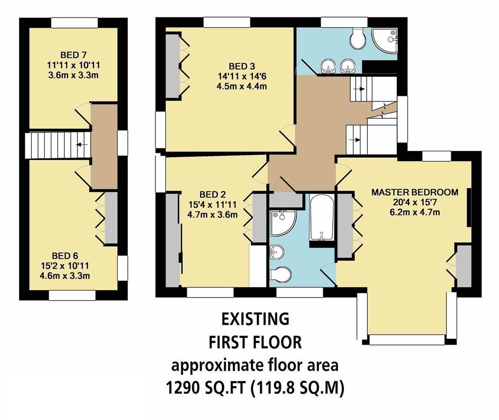 Floorplan 7 of 8: Existing First Floor