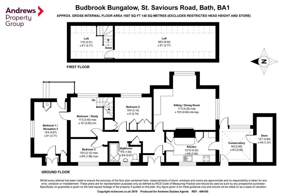 Floorplan: Budbrook Bungalow
