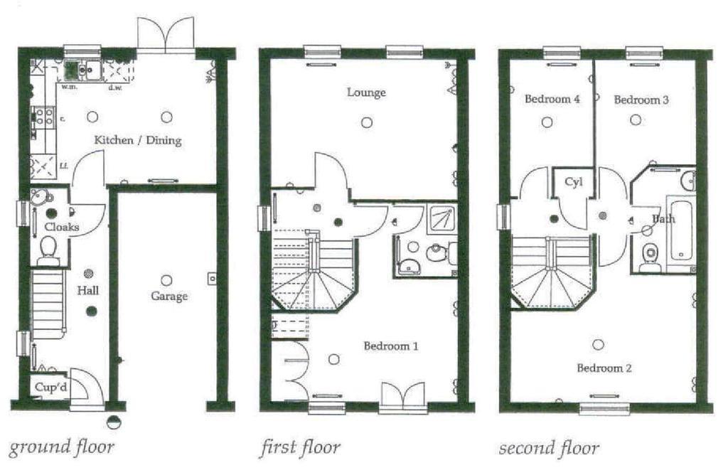 Floorplan: Darlington Wimpey   12 Nursery Lane, Darlington, D