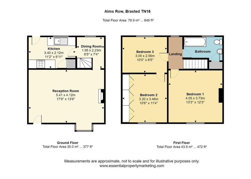 Floorplan: Primrose Cottage, 8 Alms Row, Brasted TN16 1 HU.jpg