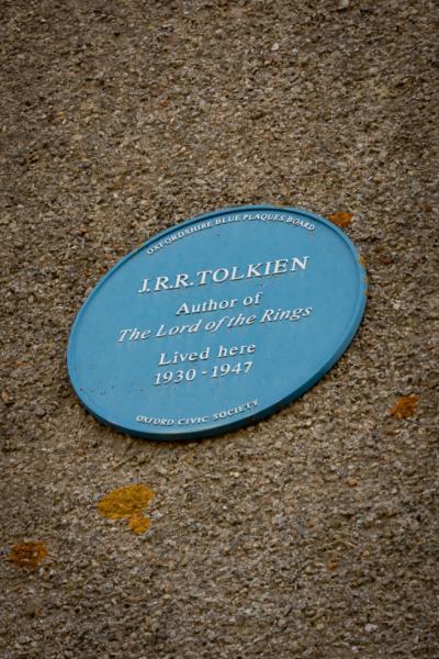 Tolkien Blue Plaque