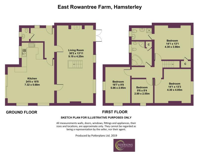 Floorplan: East Rowantree Farm, Hamsterley
