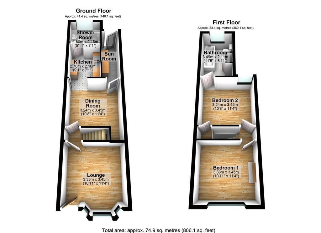 Floorplan 2 of 2: 3 D Floor Plan