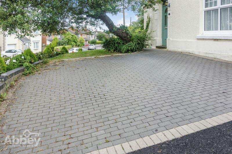 Driveway to the...