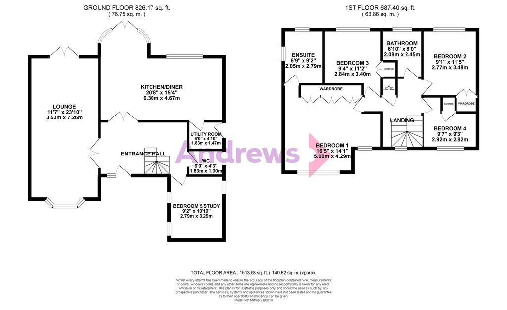 Floorplan: Barkers Mead