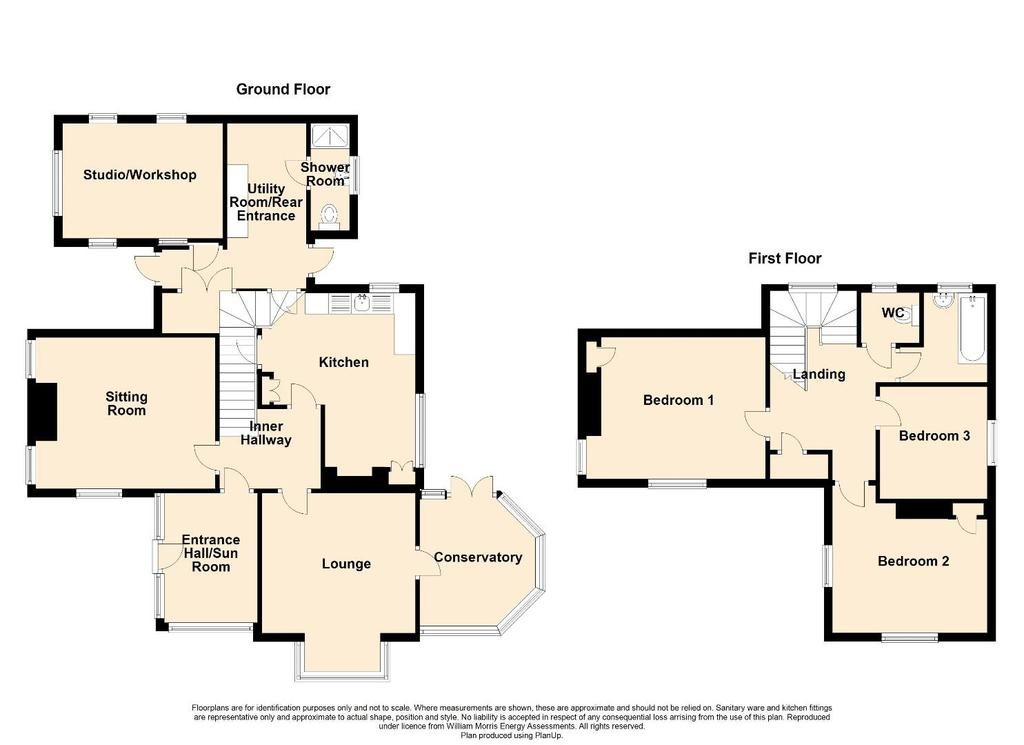 Floorplan: 2 D Floor Plan Borthwen, Criccieth.jpg