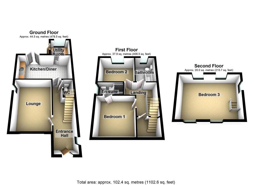 Floorplan: Plot 3 Colin Place