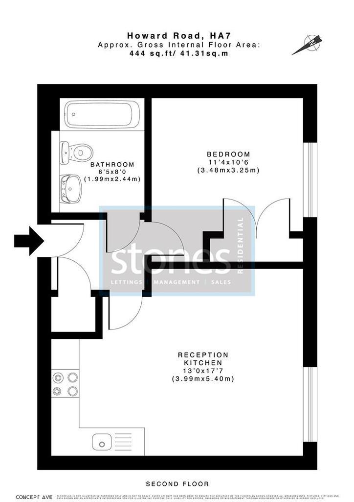 Floorplan: STST 12 Monarch Court Howard Raod HA7 1 BT.jpg
