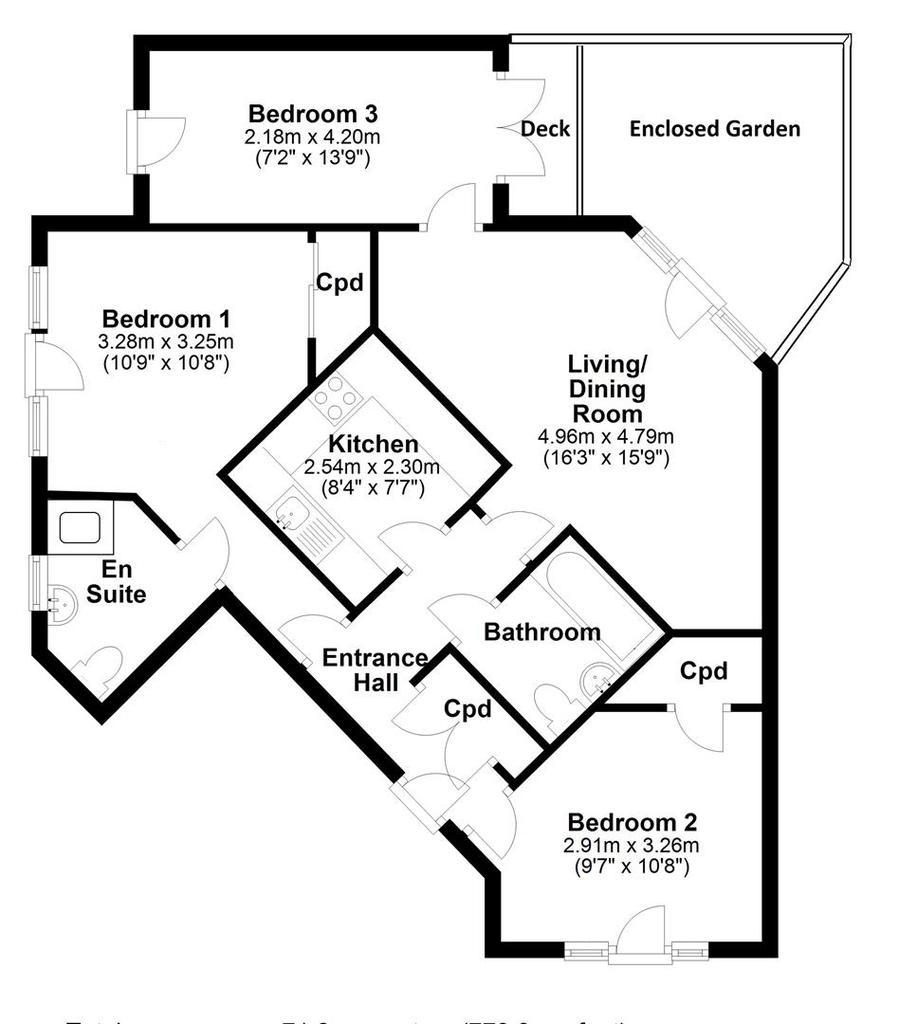 Floorplan: 98 St Matthews Gardens Cambridge WITH DIMS 2.jpg