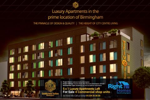 1 bedroom block of apartments for sale - BRAND NEW 5x1BEDROOM LUXURY APARTMENTS, BIRMINGHAM