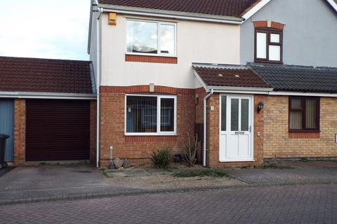 2 bedroom semi-detached house to rent - bramble close, leicester LE5