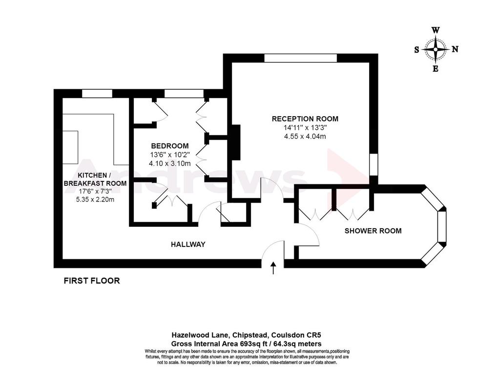 Floorplan: Hazelwood Lane, Chipstead, Coulsdon CR5 logo