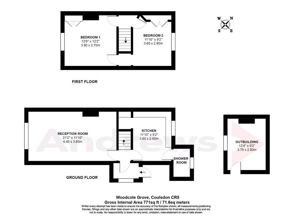 Floorplan: Woodcote Grove, Coulsdon CR5 logo